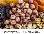 Peeled Hazelnuts In A Grocery...