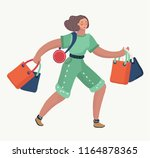 vector cartoon illustration of... | Shutterstock .eps vector #1164878365
