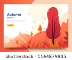 autumn colorful web banner.... | Shutterstock .eps vector #1164879835