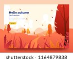 hello autumn colorful web... | Shutterstock .eps vector #1164879838