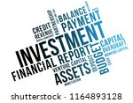 investment word cloud collage ... | Shutterstock .eps vector #1164893128