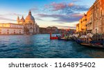santa maria della salute at... | Shutterstock . vector #1164895402