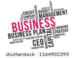 business word cloud collage ... | Shutterstock .eps vector #1164902395