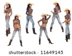 Collection Of Six Poses Of A...