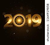 vector 2019 happy new year... | Shutterstock .eps vector #1164919858