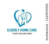 elderly people care senior old...   Shutterstock .eps vector #1164923902