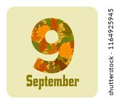 month number 9 september autumn | Shutterstock .eps vector #1164925945