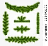 collection of realistic fir... | Shutterstock .eps vector #116493172