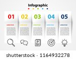 infographic element design 5... | Shutterstock .eps vector #1164932278