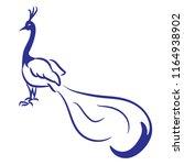beautiful peacock illustrated...   Shutterstock .eps vector #1164938902