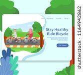 healthy life landing page... | Shutterstock .eps vector #1164942862