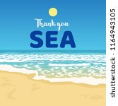 thank you sea beach scene... | Shutterstock .eps vector #1164943105