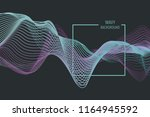 3d abstract digital wave of... | Shutterstock .eps vector #1164945592