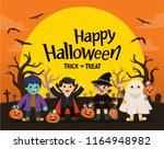 happy halloween. children... | Shutterstock .eps vector #1164948982