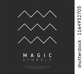 flat style of magic symbol with ... | Shutterstock . vector #1164952705