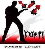 illustration of guitarist and... | Shutterstock .eps vector #116495296