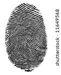 vector format of finger print.   Shutterstock .eps vector #11649568