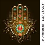 esoteric  oriental symbol hand... | Shutterstock .eps vector #1164957235
