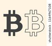 bitcoin sign on beige background | Shutterstock .eps vector #1164967108