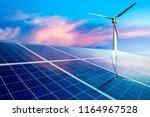 wind turbines and solar panels...