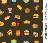 seamless pattern cool food and... | Shutterstock .eps vector #1164972262