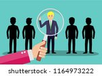 find the right person for the... | Shutterstock .eps vector #1164973222