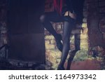 female prostitute working on... | Shutterstock . vector #1164973342