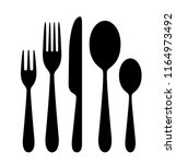 the contours of the cutlery.... | Shutterstock .eps vector #1164973492
