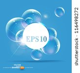 bubbles on a blue background | Shutterstock .eps vector #116498272