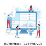 the team of web developers... | Shutterstock .eps vector #1164987208