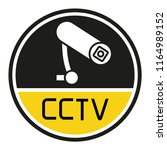 cctv label sign | Shutterstock .eps vector #1164989152