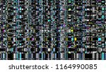 glitch. abstract shapes. chaos. ... | Shutterstock .eps vector #1164990085