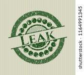 green leak grunge stamp | Shutterstock .eps vector #1164991345