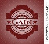 gain red emblem | Shutterstock .eps vector #1164991348