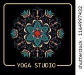 mandala  emblem  ornament ... | Shutterstock .eps vector #1164997432