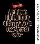 full alphabet in the gothic... | Shutterstock .eps vector #1164997795