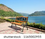 cose up alloy chair wooden and...   Shutterstock . vector #1165002955