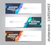 vector abstract design banner... | Shutterstock .eps vector #1165014415