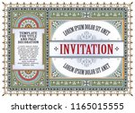 template flyer  invitations or... | Shutterstock .eps vector #1165015555