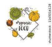 organic food. locally grown.... | Shutterstock .eps vector #1165016128
