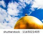 Modern Statue Golden Sphere...