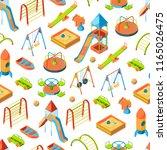 vector isometric playground... | Shutterstock .eps vector #1165026475
