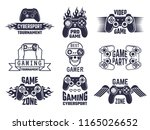 gaming logo set. video games... | Shutterstock .eps vector #1165026652