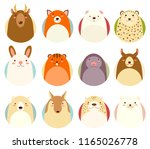 set of avatars icons in naive... | Shutterstock .eps vector #1165026778