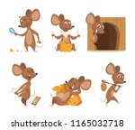 mouse character. funny cartoon... | Shutterstock .eps vector #1165032718