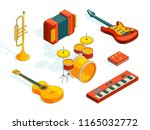 musical instruments. isometric... | Shutterstock .eps vector #1165032772