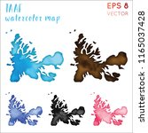 taaf watercolor country map.... | Shutterstock .eps vector #1165037428