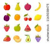 fruits cartoon set. fresh... | Shutterstock .eps vector #1165038475