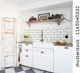 stylish kitchen detail with... | Shutterstock . vector #1165040332