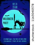 a halloween party banner with a ... | Shutterstock .eps vector #1165040578